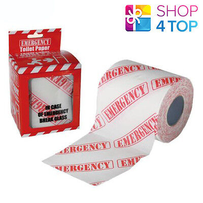 Emergency Toilet Paper Funny Pattern Joke Funny Gift Bathroom Roll Gag Novelty