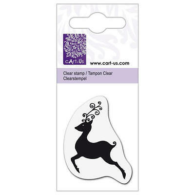 cArt-Us Clear Stamp - Silhouette Reindeer #1101