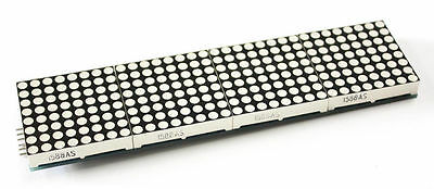 New Lattice Breakout LED Module 8X32 Red Dot Matrix Screen HT1632C