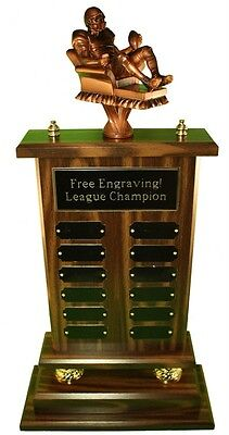 "Fantasy Football Trophy 23"" 12 Year Armchair Qb- Free Engraving! Ships In 1 Day"