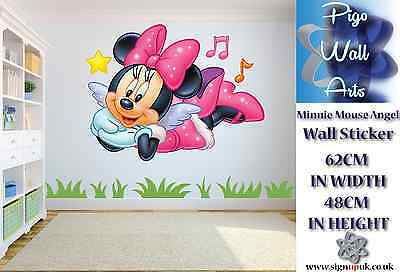 Disney Minnie Mouse Angel wall sticker Childrens room decor large.