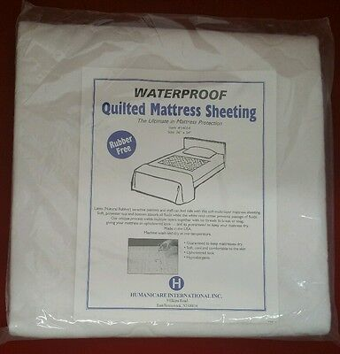 "Waterproof Quilted Mattress Pad Sheeting Protection Rubber Free 36"" x 54"""