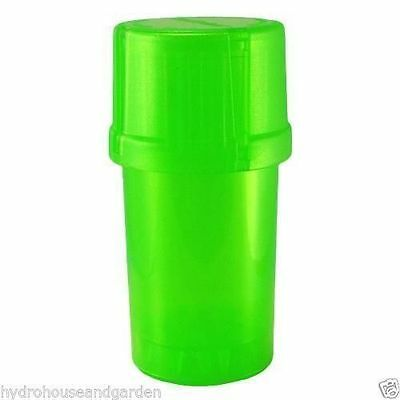 MedTainer Storage Container w/ Built-In Grinder Solid Green