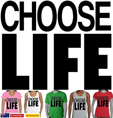 Choose Life 1980's Party costume 80's Wham Retro 1980's  T-Shirts George Michael