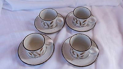 MIDWINTER Stonehenge WILD OATS CUP SAUCER 4 SETS  8 Pc