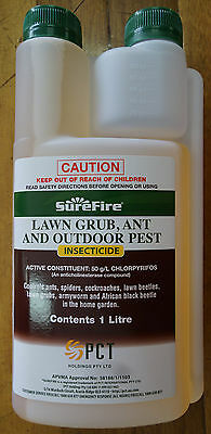 Surefire Lawn Grub, Ant and Outdoor Pest Insecticide Poison Spray 1 Litre