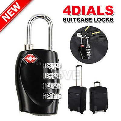 TSA Approved 4-Dial Luggage Locks Combination Padlock Travel Suitcase