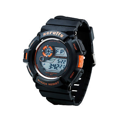 Scruffs Sports Digital Work Watch BLACK - Shock & Water Proof - T51415