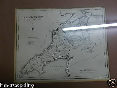 Framed Map of CARNARVONSHIRE  -