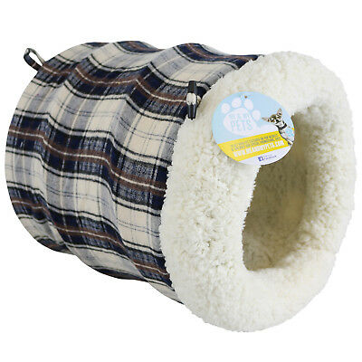 Rest & Play Super Soft Pouch/bed Fleece Igloo For Cat/kitten/rabbit Tunnel/hide
