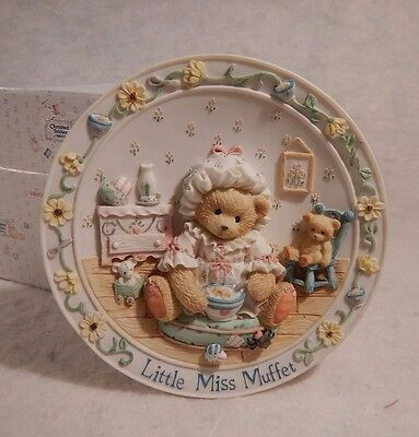 "1995 Cherished Teddies ""little Miss Muffet ""nursery Rhyme Plate    # 145033"