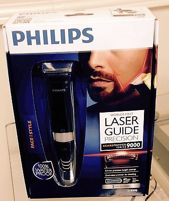 Philips BT9290/32 Beardtrimmer Waterproof Laser Guide Rechargeable