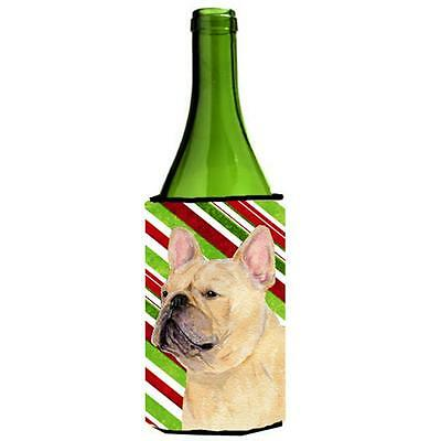 French Bulldog Candy Cane Holiday Christmas Wine Bottle Hugger 24 oz.