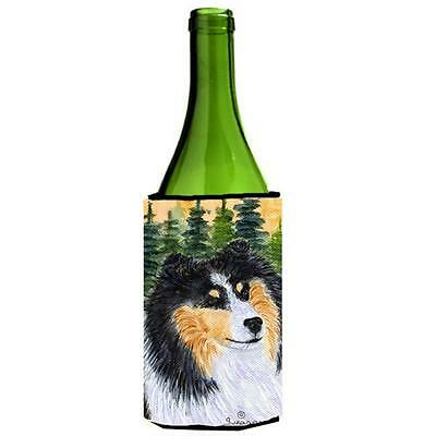 Carolines Treasures SS8140LITERK Sheltie Wine bottle sleeve Hugger 24 oz.