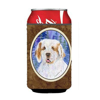 Carolines Treasures SS8008CC Clumber Spaniel Can Or Bottle Hugger 12 oz.