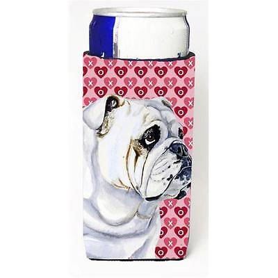 Bulldog English Hearts Love Valentines Day Michelob Ultra s For Slim Cans 12 oz.