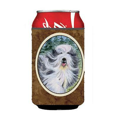 Carolines Treasures SS8037CC Bearded Collie Can Or Bottle Hugger 12 oz.