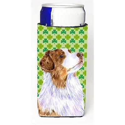 Australian Shepherd St. Patricks Day Shamrock Michelob Ultra bottle sleeve fo...
