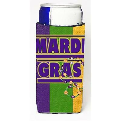 Carolines Treasures 8363MUK Mardi Grass Michelob Ultra s For Slim Cans 12 oz.
