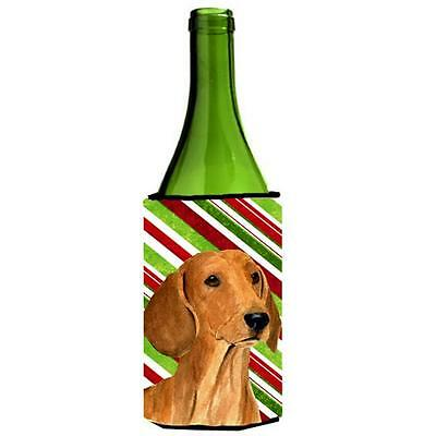 Dachshund Candy Cane Holiday Christmas Wine Bottle Hugger 24 oz.