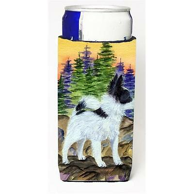 Carolines Treasures SS8194MUK Papillon Michelob Ultra bottle sleeve for Slim Can