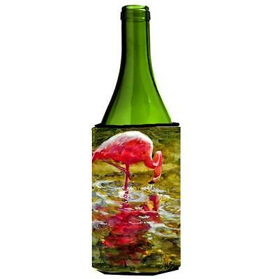 Carolines Treasures MM6031LITERK Bird Flamingo Wine bottle sleeve Hugger 24 oz.