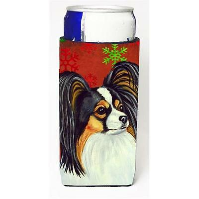 Papillon Red and Green Snowflakes Holiday Christmas Michelob Ultra s for slim...