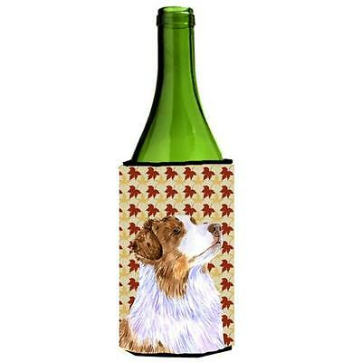 Carolines Treasures Australian Shepherd Fall Leaves Portrait Wine Bottle Hugger
