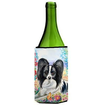 Carolines Treasures 7273LITERK Papillon Wine bottle sleeve Hugger 24 Oz.