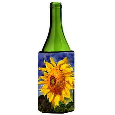 Carolines Treasures MM6051LITERK Flower Sunflower Wine bottle sleeve Hugger