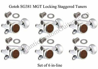 Gotoh SG381 MGT Locking 6-In-Line Mini Tuners with Staggered Posts. TK-0768-010