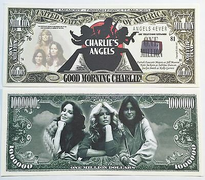 RARE: CHARLIES ANGELS $1,000,000 Novelty Note, TV Shows Buy 5 Get one FREE