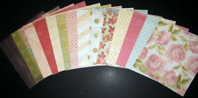 """14 Patterned Papers *HOMESPUN SIGNATURE COLLECTION * - 15cm x 15cm (6"""" x 6"""")"""