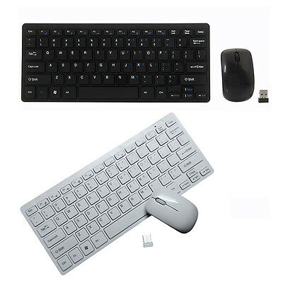 Wireless Keyboard and 2.4G Optical Mouse Combo Desktop Black for MAC PC Laptop