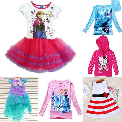 Clearance Girl Frozen Elsa and Anna Tshirt Jumper Set Dress Combined post Sz 1-7