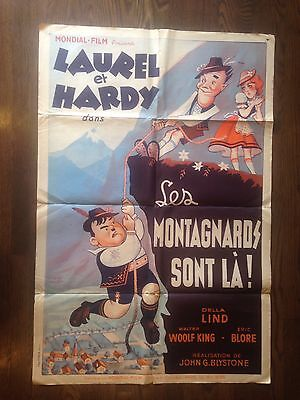 * SWISS MISS (1938) Laurel and Hardy Original Release Stone Lithograph Poster