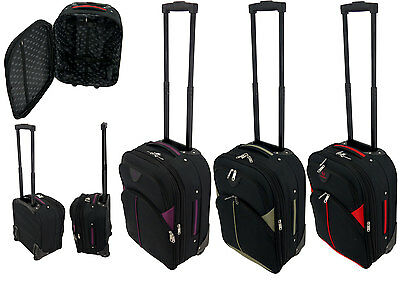 flygear cabin wheeled hand luggage travel trolley suitcase c