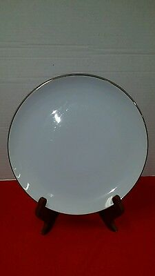 """Vintage Discontinued Platinum Ring by Style House Fine China 9"""" plate"""