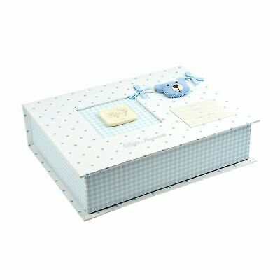 Blue Keepsake Memory Box with Casting Imprint Kit Gift for New Baby Boy
