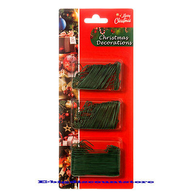 300GREEN Christmas tree Ornament Hook Decoration Hanger Wire Large Small BLISTER