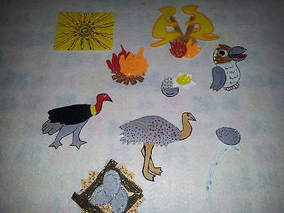 Felt Boards Story Indigenous Dreamtime  Resource - Why The Kookaburra Laughs