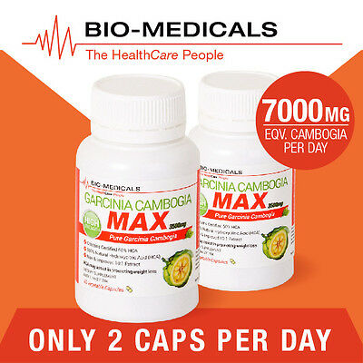 2 X 60 Cap Pure Garcinia Cambogia! 120 Caps Super Strength Weight Loss Product!