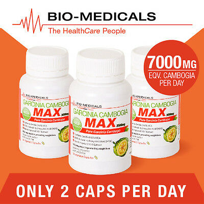 3 X 60 Cap Pure Garcinia Cambogia! 180 Caps Super Strength Weight Loss Product