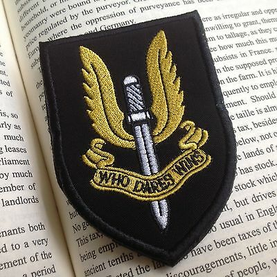 New Special Air Service SAS Patch Who Dares Win EMBROIDERED Hook PATCH