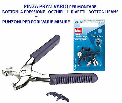 PRYM Color Snaps MINI 9mm SET UTENSILE PER PINZA VARIO Strumento Set Love 673116
