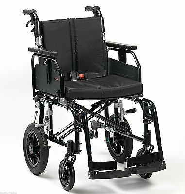 Enigma Super Deluxe 2 Lightweight Aluminium Folding Transit Wheelchair