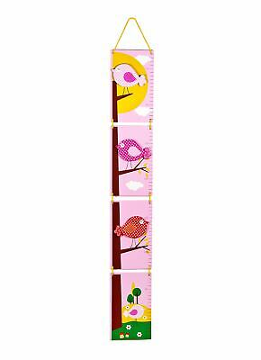 Little Bird Wooden Children's Height Chart Growth Chart Measure Girls Bedroom