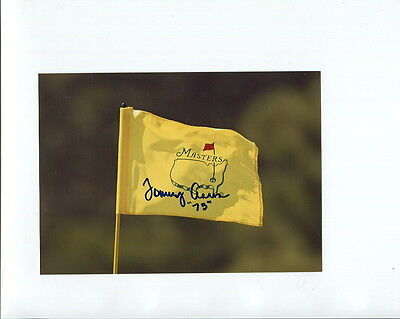TOMMY AARON HAND SIGNED 5x7 COLOR PHOTO+COA        GOLF MASTERS FLAG