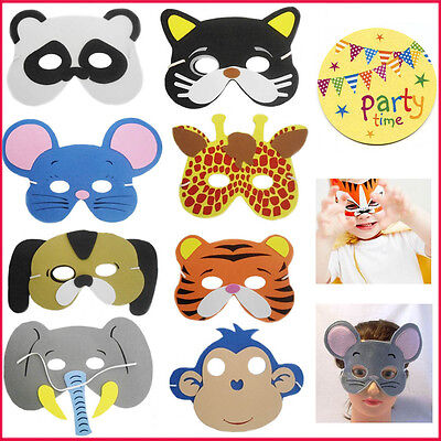 Kids Foam Animal Face Eye Masks Bag Filler Loot Mask Children's Costume Jungle