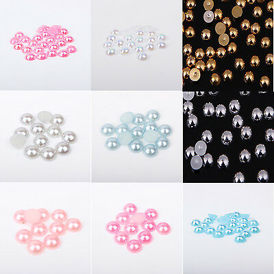 2,3,or 4mm Flat back Pearl Rhinestones Face Gem Embellishment Card Making Craft